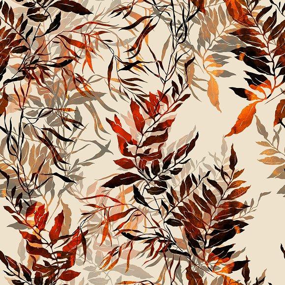 Herbs Seamless Pattern JPEG
