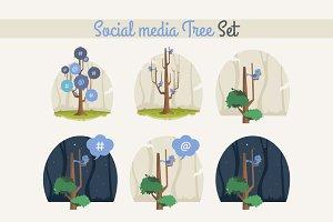 Social media tree set