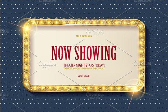 4 Cinema Golden Frames
