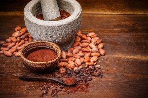 Whole cocoa beans