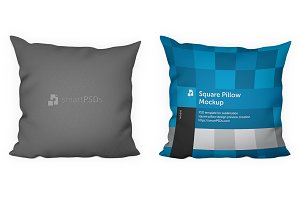 Square Pillow Design Preview Mockup