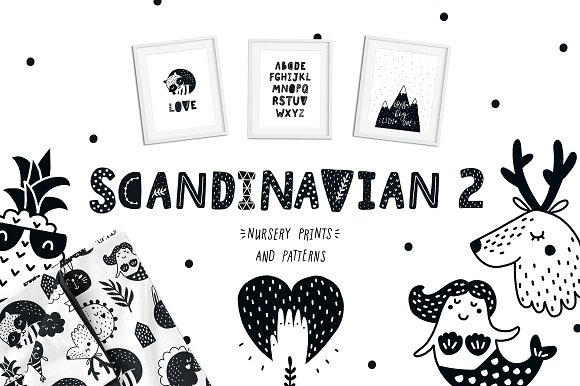 Scandinavian 2 Nursery Prints