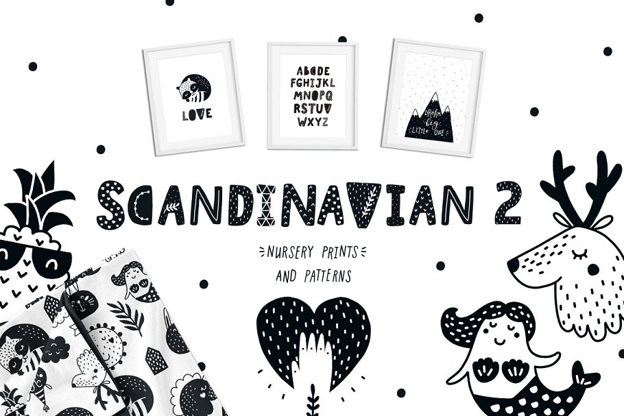 d0c54658c4228 Scandinavian 2 - Nursery prints ~ Illustrations ~ Creative Market