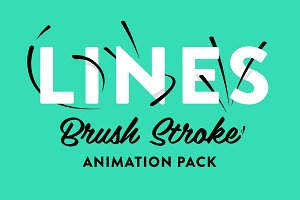 Lines - Brush Stroke Animation Pack