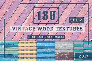 130 Vintage Wood Textures Set2