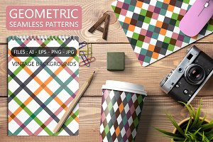 Colorful geomteric retro patterns