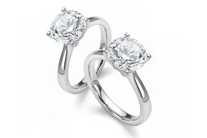 Diamond Solitaire Gold Rings