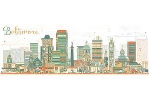 Abstract Baltimore Skyline
