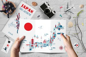 JAPAN cartoon map