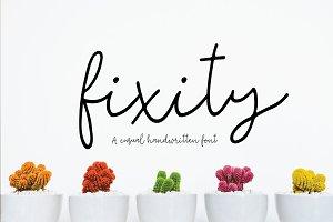 fixity | handwritten font