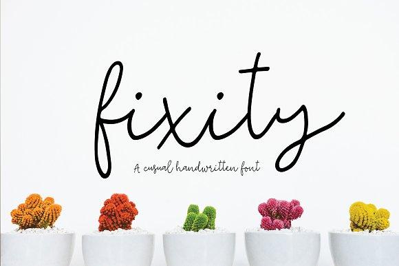 Fixity Handwritten Font