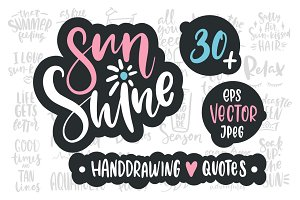Sunshine handdrawing vector quotes