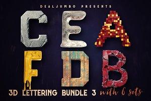 3D Lettering MegaBundle 3