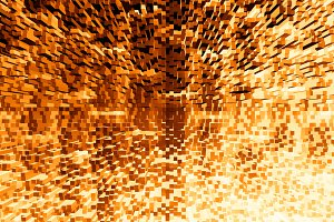 Orange 3d extruded blocks city illustration background
