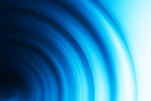 Horizontal blue circle bokeh background