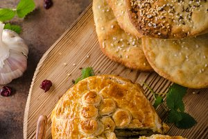 Puff pastry stuffed by camembert