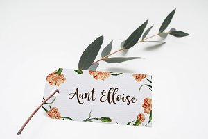 Name Place Card Mockup