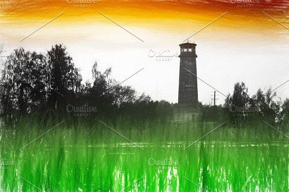 Lighthouse Background Illustration
