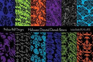 Halloween Distorted Damask Patterns