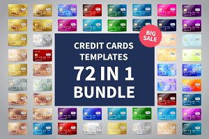 72 IN 1 Credit Cards Template SALE
