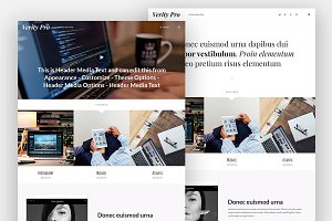 Verity Pro - Portfolio & Blog Theme