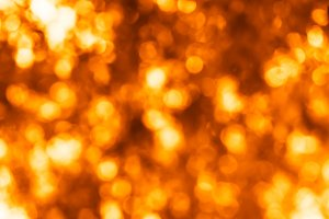 Horizontal bright orange bokeh background