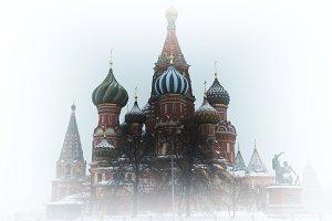 Saint Basil's Cathedral vignette background