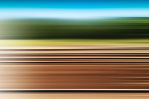 Horizontal transportation motion blur background