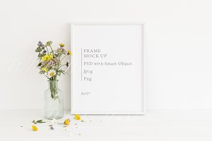 """Frame mock up - floral - 8x10"""""""