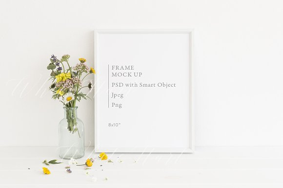 Free Frame mock up - floral - 8x10
