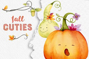 Fall Cuties - Autumn Watercolor Set