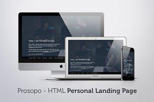 Prosopo - Personal HTML Landing Page