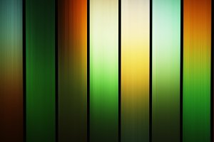 Vertical green and orange stained-glass window background