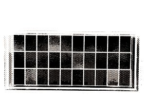 Horizontal black and white windows patchwork illustration background