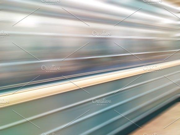Diagonal Motion Blur Metro Train Background