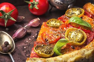 Beautiful vegetarian pizza