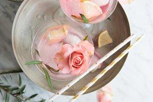 Rose Lemonade - Styled stock photo