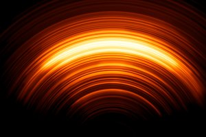 Vertical orange dark sun illustration background