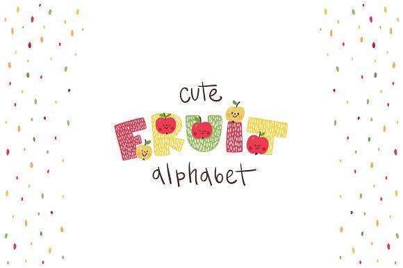 Funny Fruit Alphabet