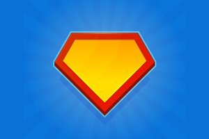 Blank Superhero Logo Set