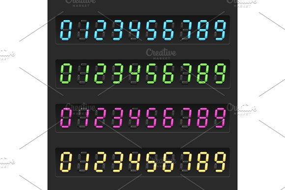 Retro Electronic Numbers