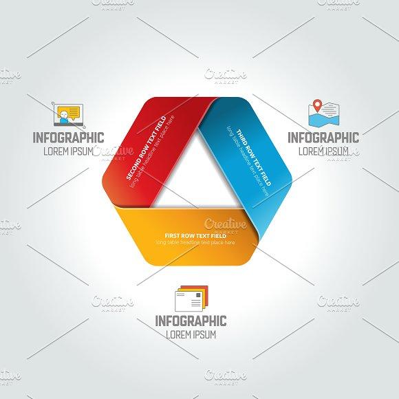 Triangle Infographic Chart Scheme