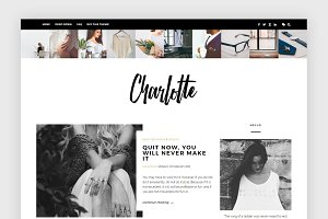 Bold Blogger Template - Charlotte