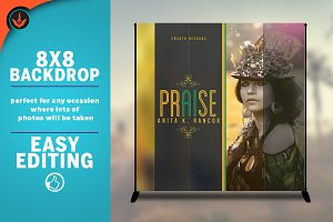Praise 8x8 Event Backdrop Template