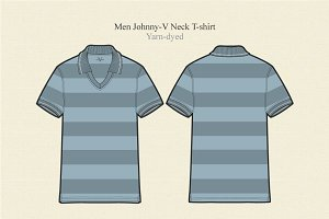 Men Johnny Collar T-shirt