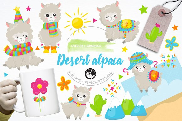 Alpaca Illustration Pack