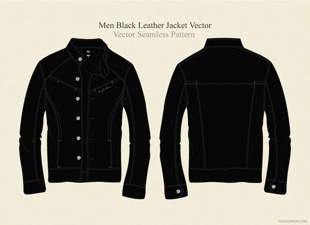 Men Field Jacket Fashion Template ~ Illustrations on Creative Market