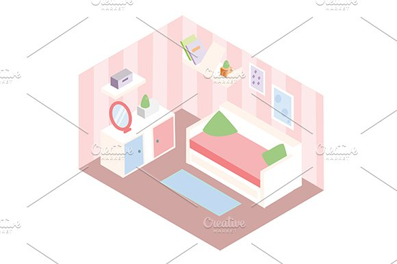 Isometric Room Interior Icon