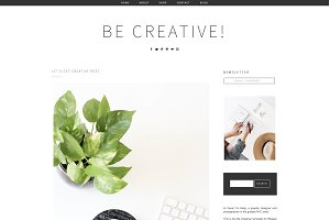 Blogger Template Be Creative