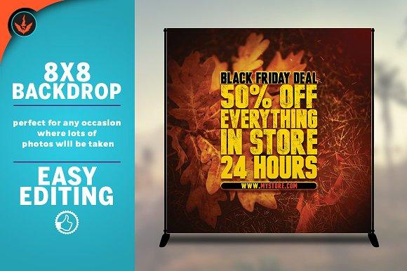 Fall Sale 8x8 Backdrop Template
